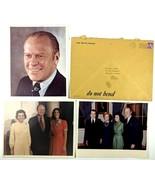 "VTG White House Photography President Ford Portrait Nixon Family 3 8""x10... - $43.54"