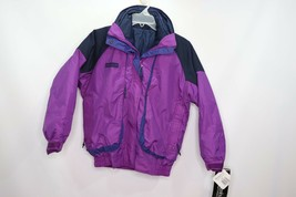 Vintage 90s New Columbia Womens Small Powder Keg Parka 4 In 1 Winter Jacket - $115.25