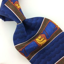 Eagles Wings Tie Christianity Faith Pray Blue Gold Silk Necktie Ties I11-493 New - $19.79