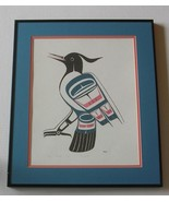 BLUE JAY by BEN HOUSTIE Signed Numbered Serigraph HP 13/50 Heiltsuk Nati... - $72.74