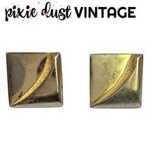 Vintage Cufflinks Cuff Links Silver 40s 1940s Hickok Geometric 1950s 50s... - $24.24