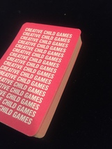 Vintage 80s Creative Child Games card game: ABC FLASHCARDS image 2