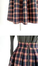 BLACK PLAID Midi Skirt Women Classy Winter Long Plaid Skirt Outfit Plus Size  image 14