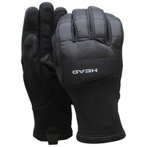 HEAD Men's Black Hybrid Sensatec Touchscreen Warm Fleece Lined Gloves Small NWT