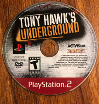 Tony Hawk's Underground (Sony PlayStation 2, PS2, 2004) Disc Only Free Shipping - $7.91