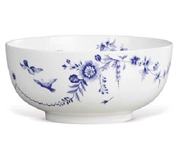 """Wedgwood Harmony 8"""" Serving Bowl Blue White Fruit Salad Made in England New - $84.90"""