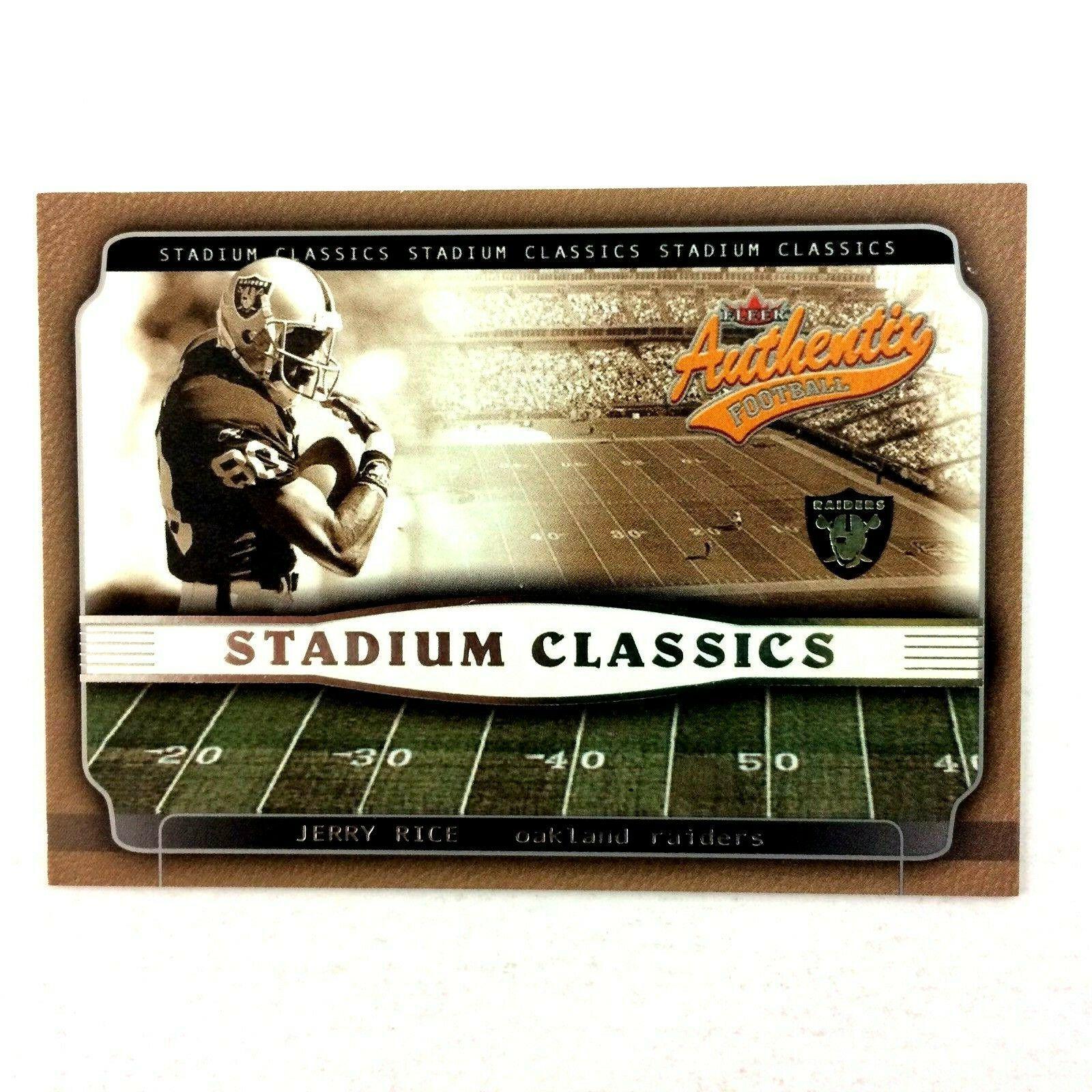 Jerry Rice 2002 Fleer Authentic Stadium Classics Insert #8 NFL HOF Raiders - $3.91