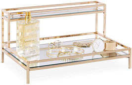 Beautify Mirrored Vanity Tray For Dresser Jewelry And Perfume Tray - Two... - $91.92