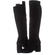 Nine West Kerianna Knee High Pull-On Boots 768, Black/Black Suede, 10 US - $56.63