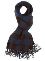 WeSC Unisex Odin Dark Blue Brown Woven Acrylic Winter Scarf Shawl B405933 NWT image 2