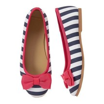 NWT Gymboree Best in Show Blue White Striped Ballet Flats Shoes 8 9 10 - $12.99