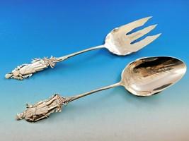 "Nuremberg by Gorham Sterling Silver Salad Serving Set Brite Cut 10 1/2"" Figural - $1,178.10"