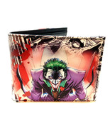 DC COMICS THE JOKER SUBLIMATED PRINT GRAPHIC PU FAUX LEATHER MENS BIFOLD... - $18.95