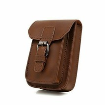 Mens PU Leather Waist Bag Messenger Shoulder Satchel Small Hook Waist Be... - $23.79