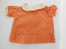 Vintage Orange Print Cotton Smock Dress  for a ... - $18.99