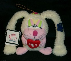 """5 """"vintage 1982 applause dodie easter bunny stuffed animal toy tag - $23.01"""