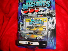 Muscle Machines '70 Cuda Silver Flamed 01-86 Free Usa Shipping - $11.29