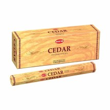 Hem Cedar Incense Sticks Beautiful Handmade Natural Fragrance 6 x 20= 120 Stick - $16.23