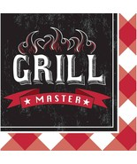 Summer Sizzle Grill Master Cookout BBQ Cook Theme Party Paper Luncheon N... - $8.17