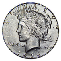 1926S Peace Silver Dollar Coin -  Lot # MZ 2885