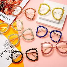 Square Diamond Sunglasses Women  Luxury Brand Designer Sunglasses Men Retro Rhin image 6