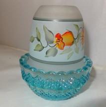 New Mosser Glass HP Hip on Aqua Opalescent  Fairy Light Lamp 209AORH - $24.99