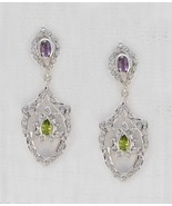 jaipur 925 Sterling Silver exquisite Natural Multi Earring gift UK - $33.84
