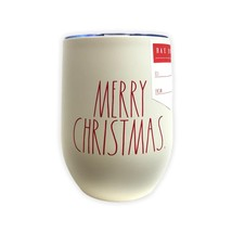 Rae Dunn By Magenta White MERRY CHRISTMAS Red LL Insulated Stainless Ste... - $24.99