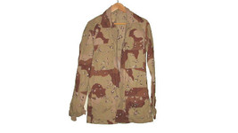 USGI Military Army Desert Storm Chocolate Chip Camo DCU BDU shirt Small ... - $18.53