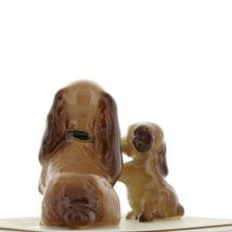 Hagen Renaker Miniature Dog Cocker Spaniel Mama and Pup Ceramic Figurine Set image 4