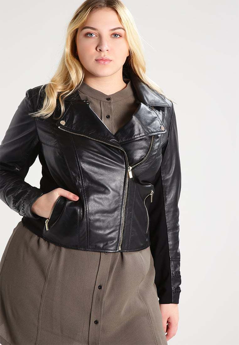 New Classic Slim Fit Stylish Soft Lambskin Leather Jacket for Women -77