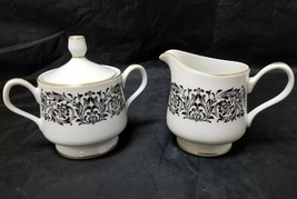 Four Crown China Creamer & Sugar Bowl Medford, 508, Japan, Cream & Sugar... - $19.34
