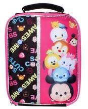 "NEW Disney Pixar Awesome 9.5"" Black Tsum Tsum Lunch Pail Box Bag Container NWT image 2"