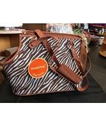 Pet Travel Carrier Brown White Zebra Stripe Safety Leash - $35.78