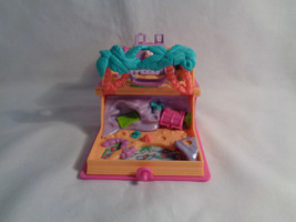Vintage 1995 Polly Pocket Pink Storybook Glitter Island Playset Only - a... - $25.69