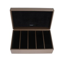 Brown Leather Watch Jewelry Sunglasses Case - $297.50