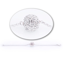 Swarovski Stone Snowball Bracelet - DAJB - $25.90 CAD