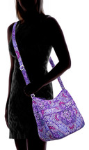 Vera Bradley Carryall Crossbody Bag, Signature Cotton, Lilac Tapestry