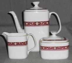 Royal Doulton MINUET PATTERN 3 pc Set COFFEE POT/CREAMER/SUGAR Made in E... - $128.69