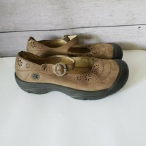 KEEN Mary Jane Tan Leather Closed Toe Sandals Comfort Shoes Womens 7.5 - $24.99