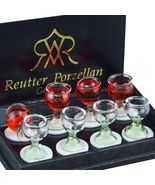 Wine Glasses 1.459/5 Reutter Filled & Empty Goblets DOLLHOUSE Miniature - $24.39