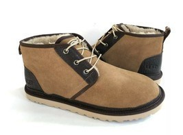 UGG MEN NEUMEL CHESTNUT SHEARLING LINED SUEDE SHOE US 11 / EU 44 / UK 10 - €101,66 EUR