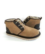 UGG MEN NEUMEL CHESTNUT SHEARLING LINED SUEDE SHOE US 11 / EU 44 / UK 10 - £88.55 GBP