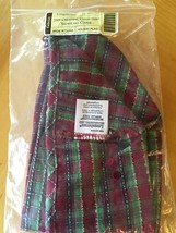 Longaberger 2009 Snowflake Cookie Collection Holiday Plaid Liner, New In Package - $11.39