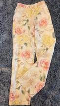 Talbots Silk Blend Floral Capri Pants Pastel Floral Size 2 Tropical Print - $19.99