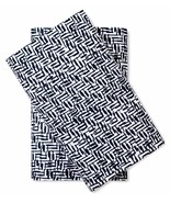 Nate Berkus Cotton Sateen Pillowcases Two King Navy Soft 300 Thread Count - $24.74