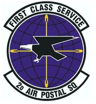 USAF 2nd AIR POSTAL SQUADRON 12'' Sticker Military - $24.74