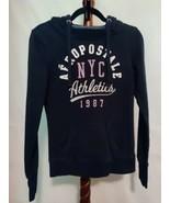 Aeropostale size S/P women's hooded sweatshirt blue color LS Logo on fro... - $18.46