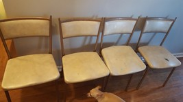 Vintage Mid Century Cosco Gate Fold Chairs set of 4 - $71.25