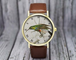 Vintage Hummingbird Illustration Watch | Bird Watch | Fashion Accessory ... - $20.00